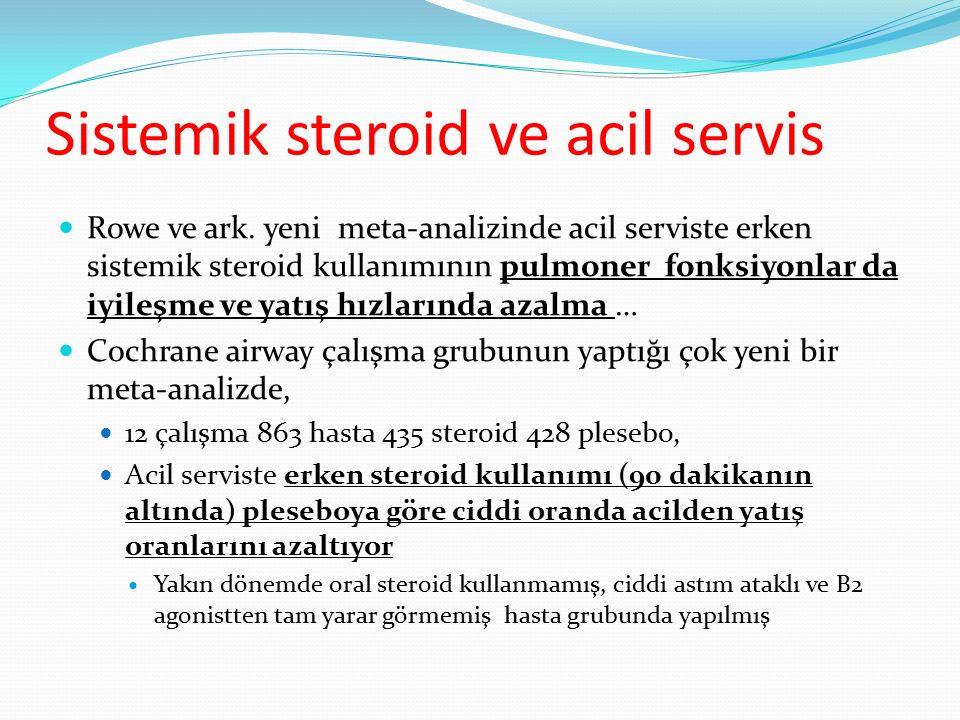 Sistemik steroid ve acil servis