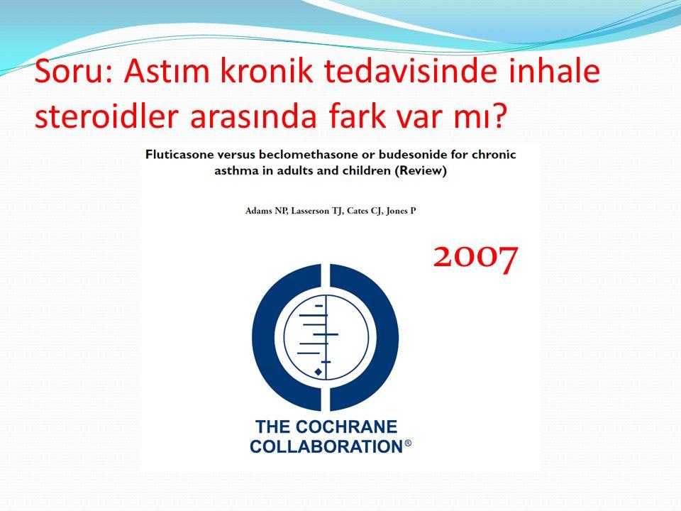 Soru: Astım kronik tedavisinde inhale steroidler arasında fark var mı