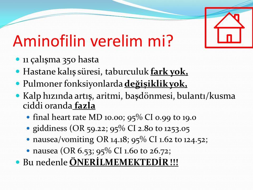 Aminofilin verelim mi 11 çalışma 350 hasta