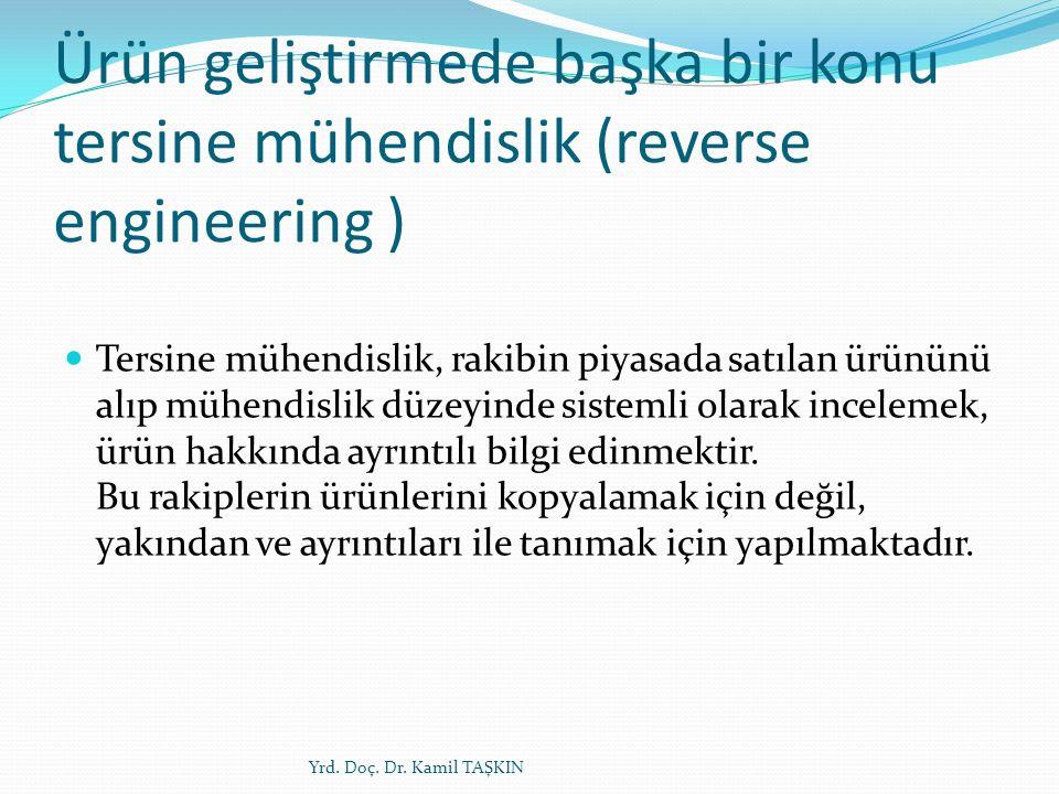 Ürün geliştirmede başka bir konu tersine mühendislik (reverse engineering )