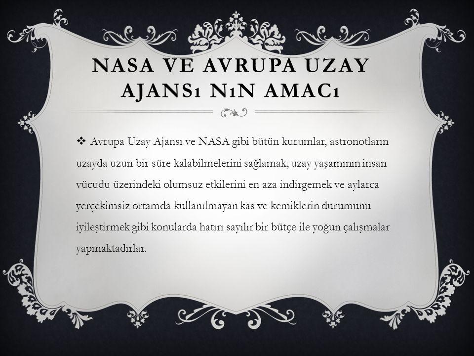 Nasa ve Avrupa Uzay Ajansı nın amacı