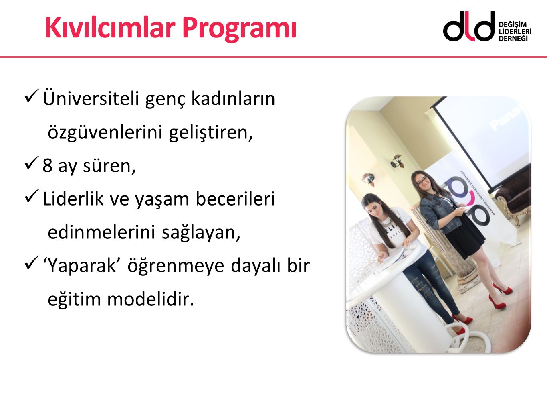 Kıvılcımlar Programı Üniversiteli genç kadınların özgüvenlerini geliştiren, 8 ay süren, Liderlik ve yaşam becerileri edinmelerini sağlayan,