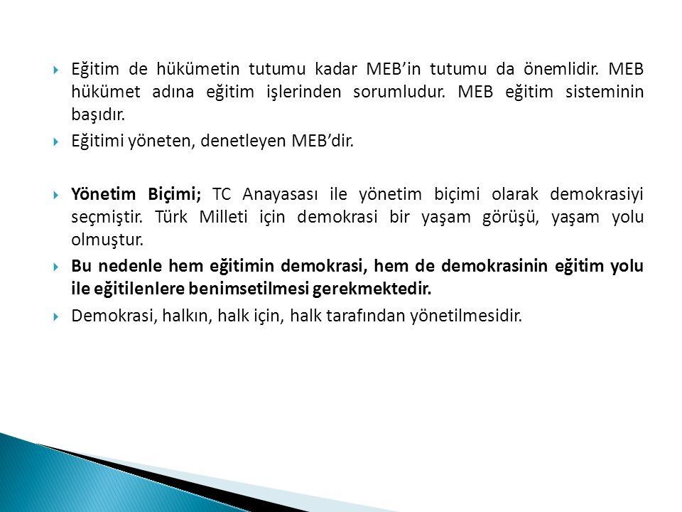Eğitim de hükümetin tutumu kadar MEB'in tutumu da önemlidir