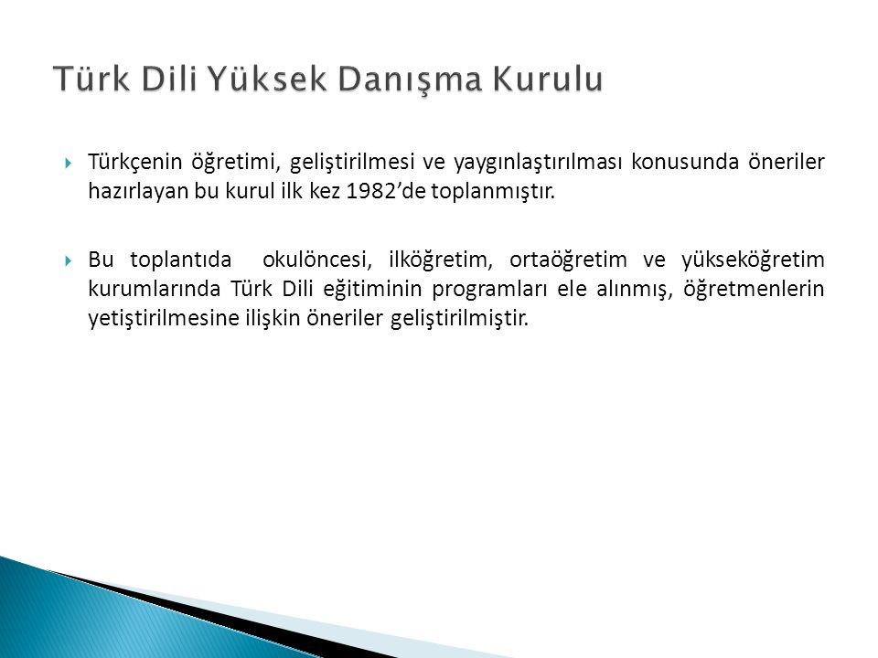 Türk Dili Yüksek Danışma Kurulu