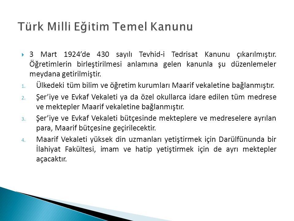 Türk Milli Eğitim Temel Kanunu