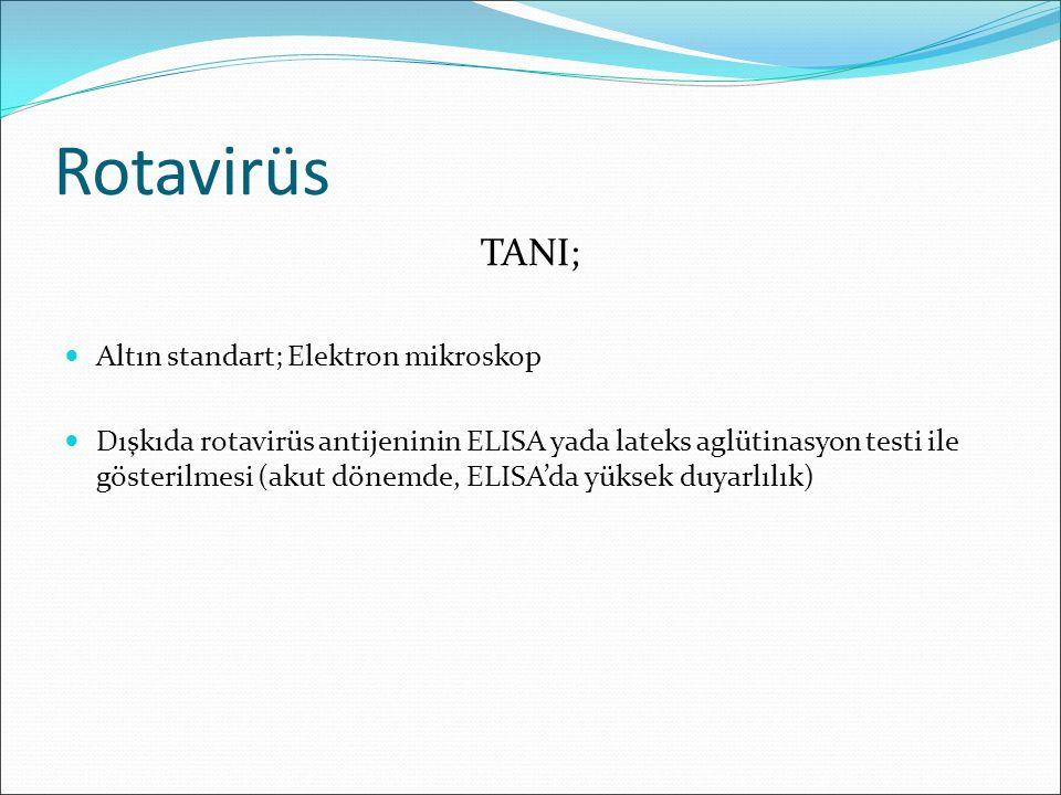 Rotavirüs TANI; Altın standart; Elektron mikroskop
