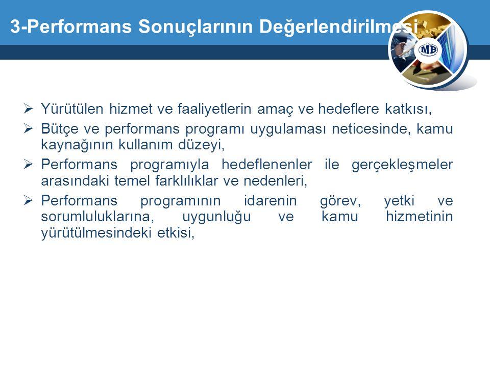 3-Performans Sonuçlarının Değerlendirilmesi