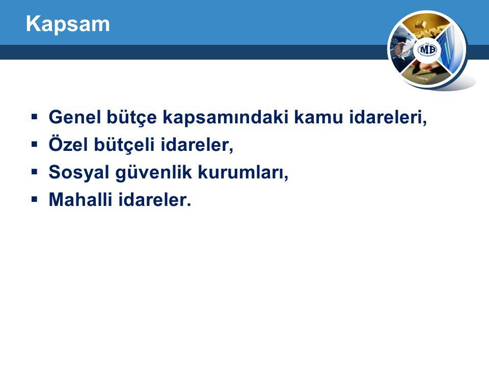 Kapsam Genel bütçe kapsamındaki kamu idareleri, Özel bütçeli idareler,