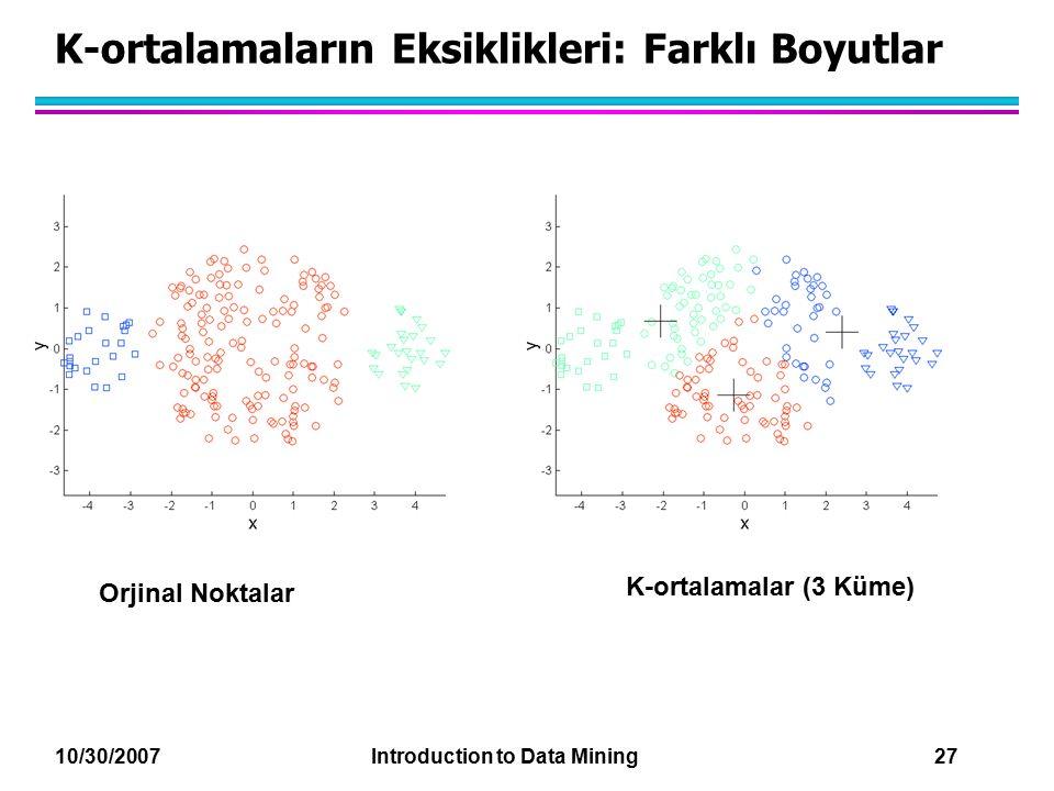 K-ortalamaların Eksiklikleri: Farklı Boyutlar