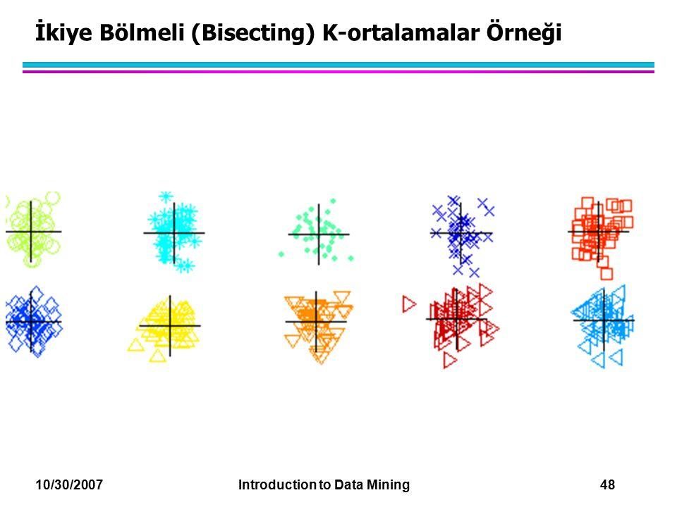 İkiye Bölmeli (Bisecting) K-ortalamalar Örneği