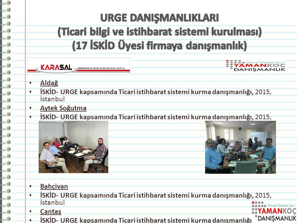 URGE DANIŞMANLIKLARI (Ticari bilgi ve istihbarat sistemi kurulması) (17 İSKİD Üyesi firmaya danışmanlık)