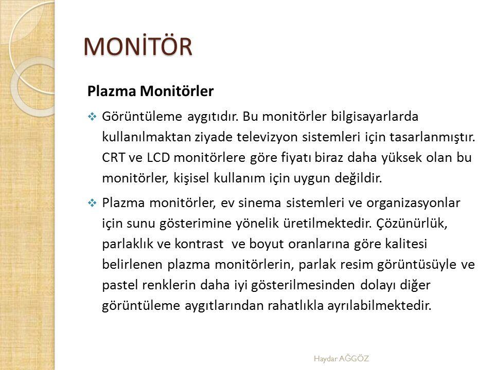 MONİTÖR Plazma Monitörler
