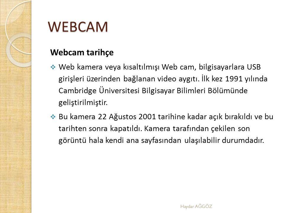 WEBCAM Webcam tarihçe.