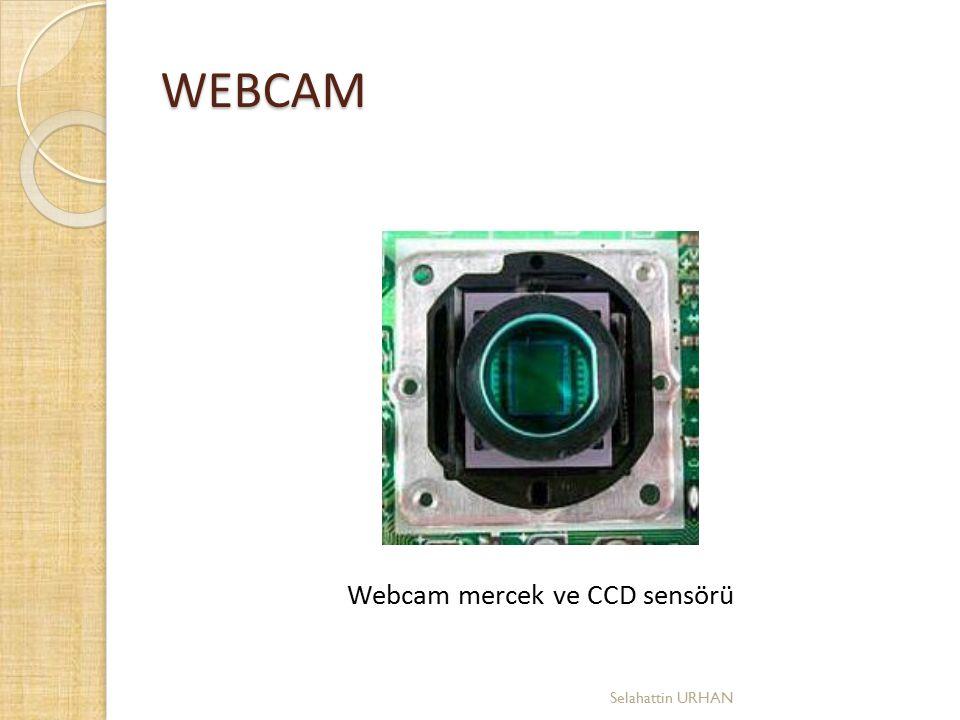 Webcam mercek ve CCD sensörü