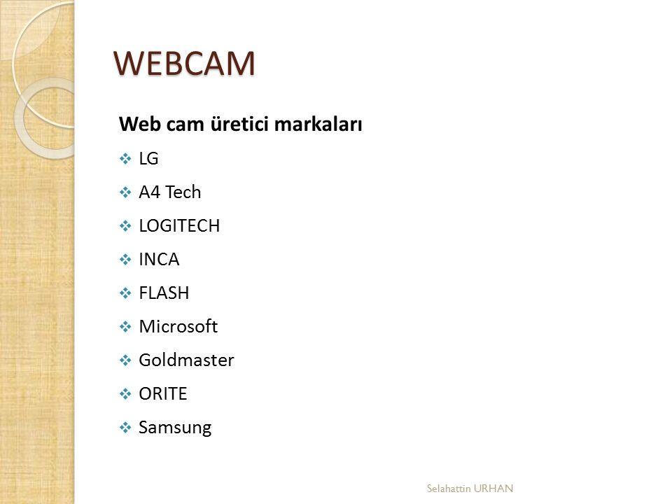 WEBCAM Web cam üretici markaları LG A4 Tech LOGITECH INCA FLASH