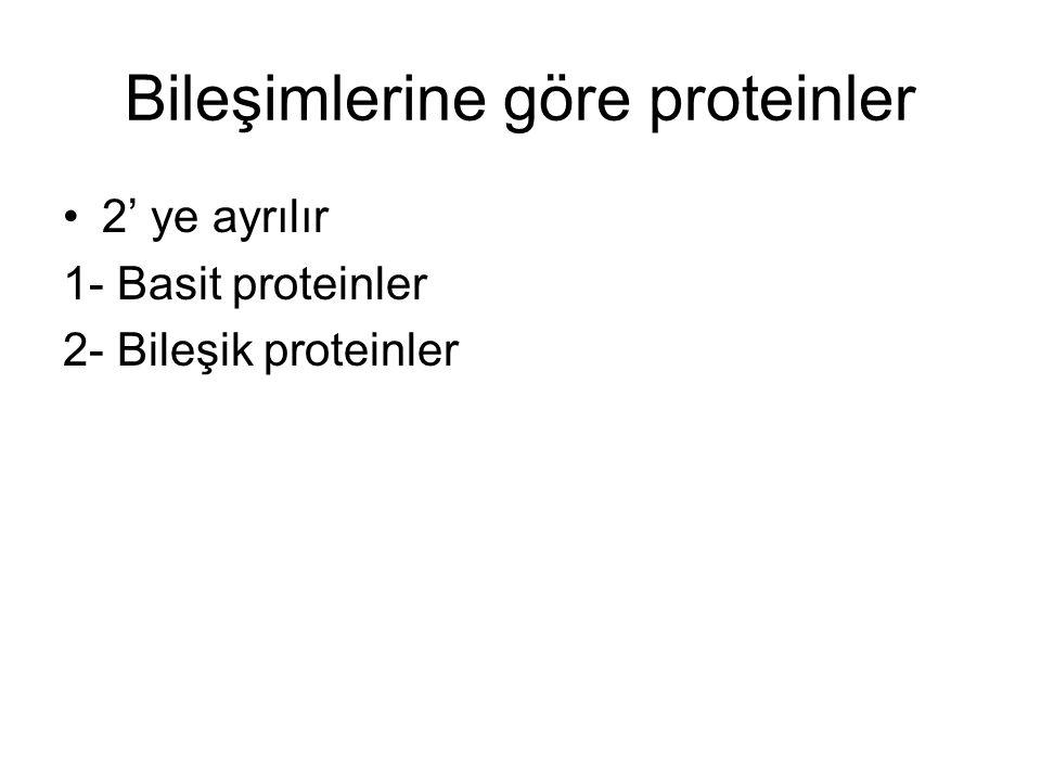 Bileşimlerine göre proteinler