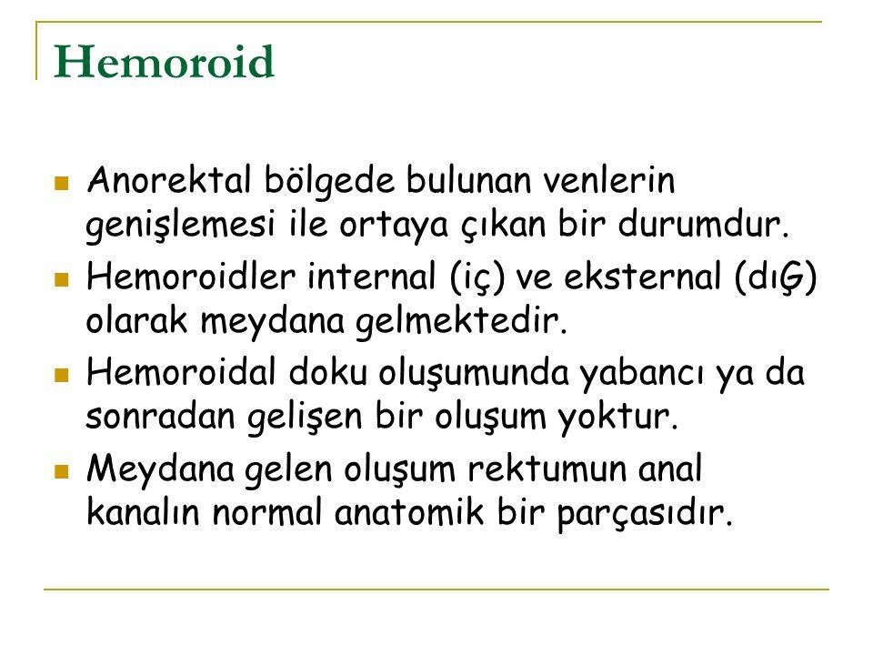 Hemoroid Anorektal bölgede bulunan venlerin genişlemesi ile ortaya çıkan bir durumdur.