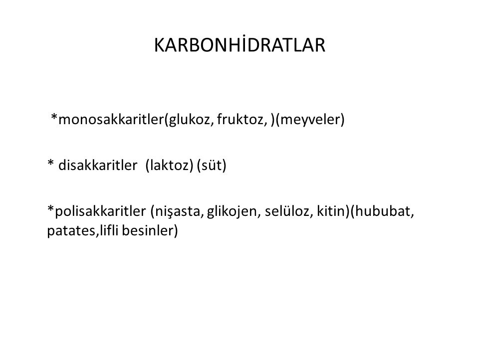 KARBONHİDRATLAR