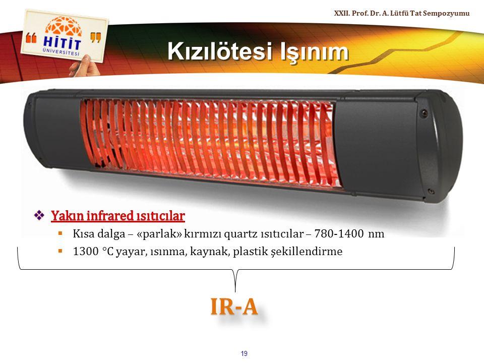 Kızılötesi Işınım IR-A Yakın infrared ısıtıcılar
