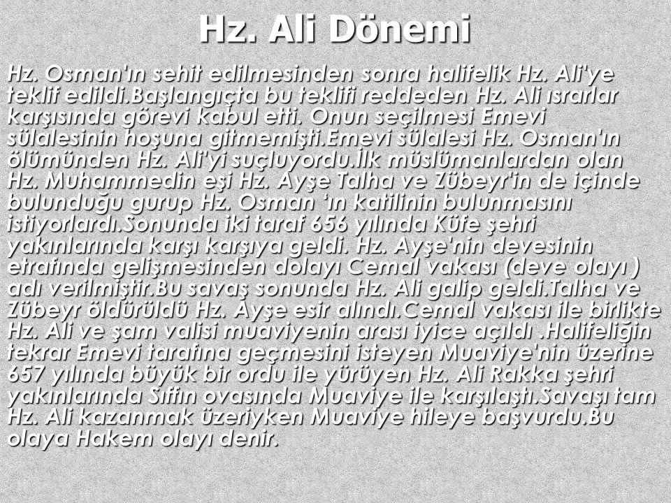 Hz. Ali Dönemi