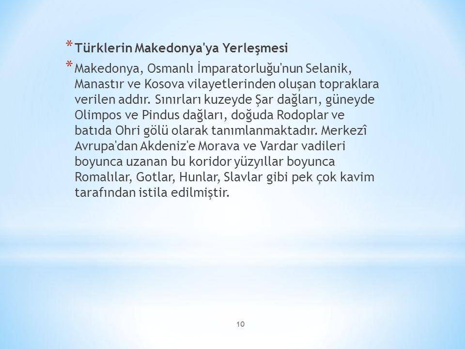 Türklerin Makedonya ya Yerleşmesi
