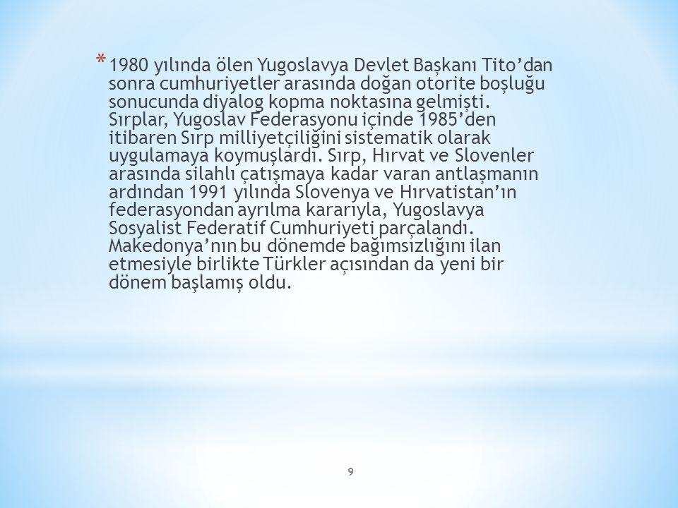 1980 yılında ölen Yugoslavya Devlet Başkanı Tito'dan sonra cumhuriyetler arasında doğan otorite boşluğu sonucunda diyalog kopma noktasına gelmişti.