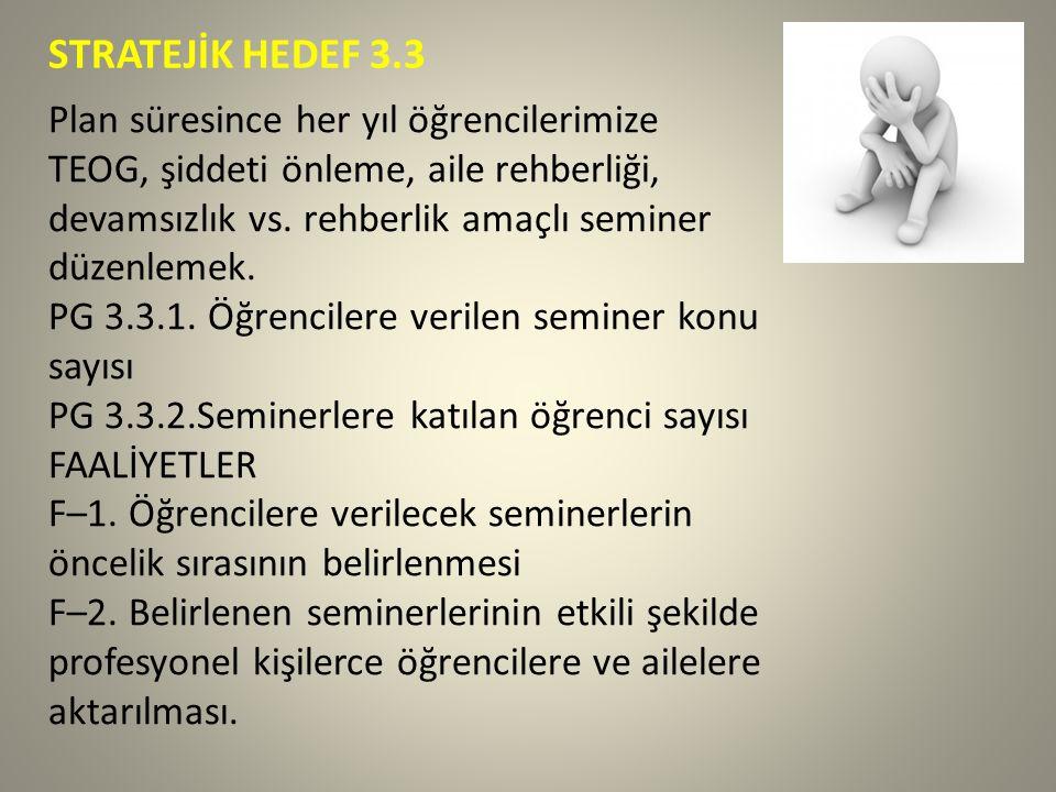 STRATEJİK HEDEF 3.3