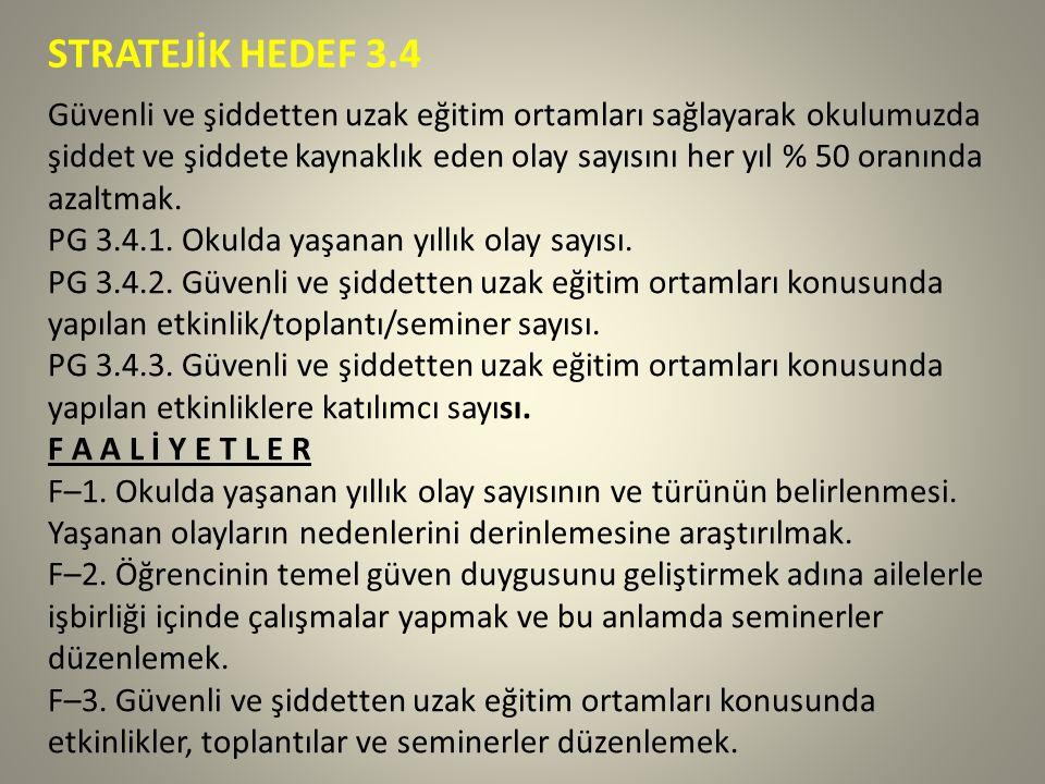 STRATEJİK HEDEF 3.4