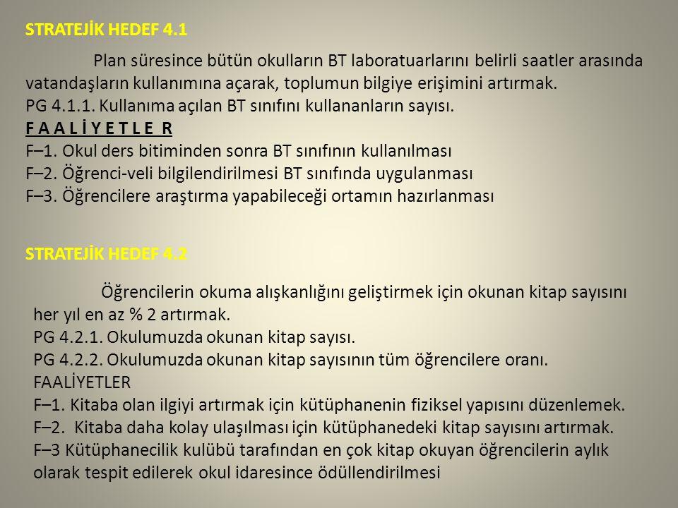 STRATEJİK HEDEF 4.1