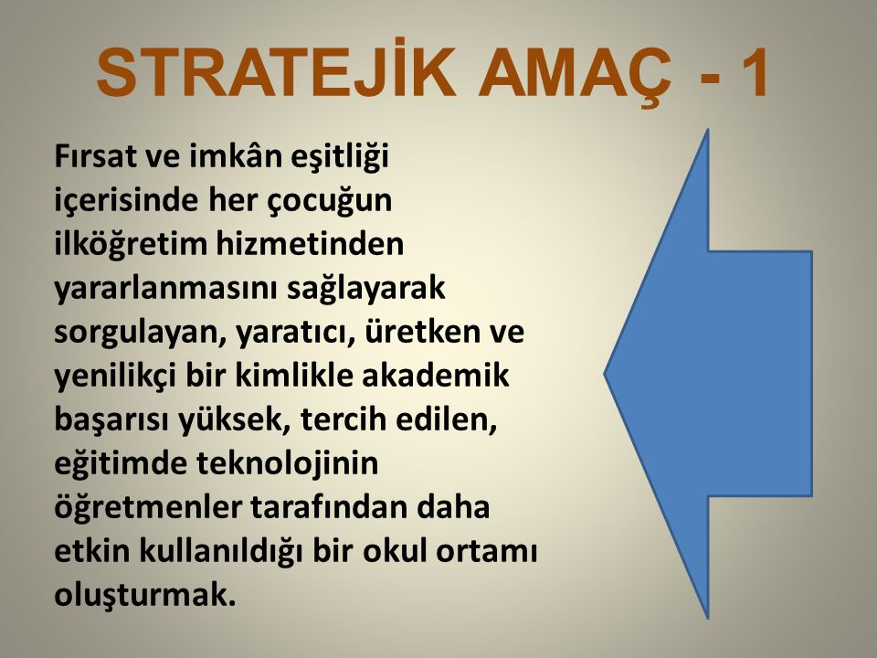 STRATEJİK AMAÇ - 1