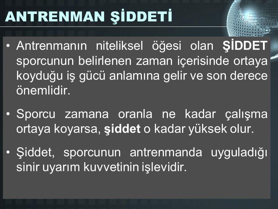 ANTRENMAN ŞİDDETİ