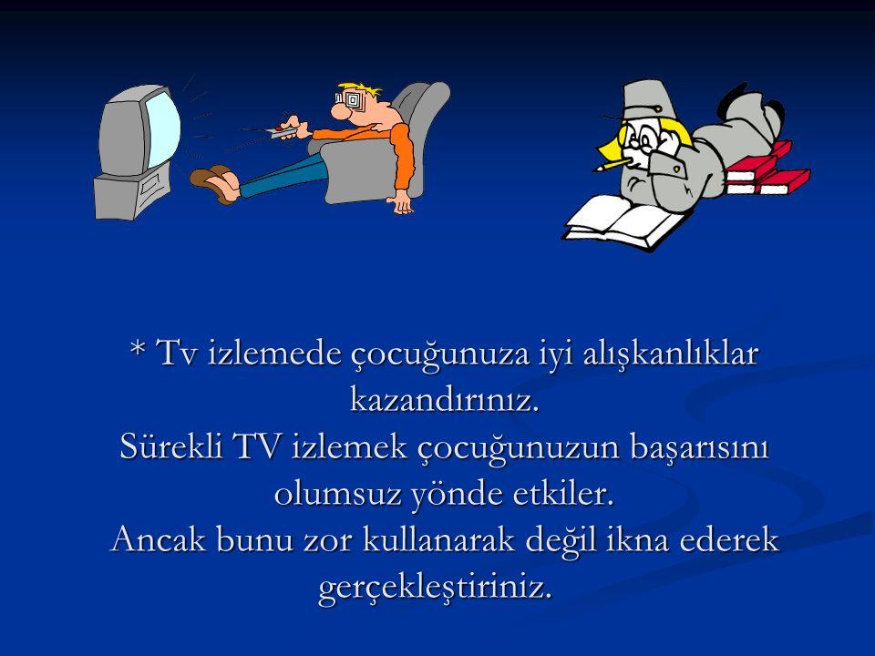 Tv izlemede çocuğunuza iyi alışkanlıklar kazandırınız