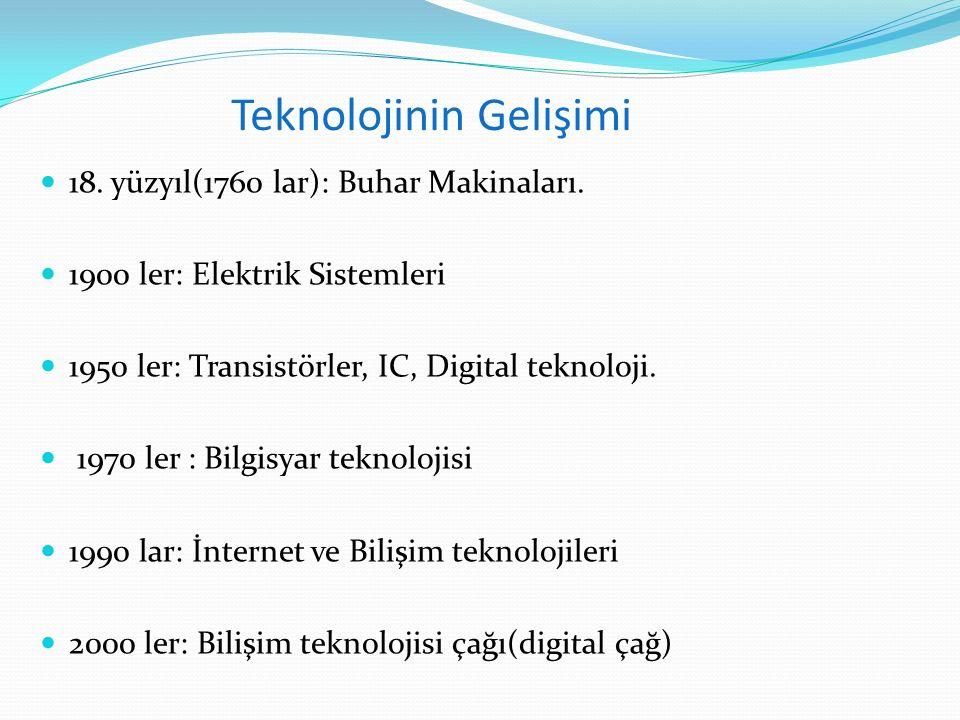Teknolojinin Gelişimi