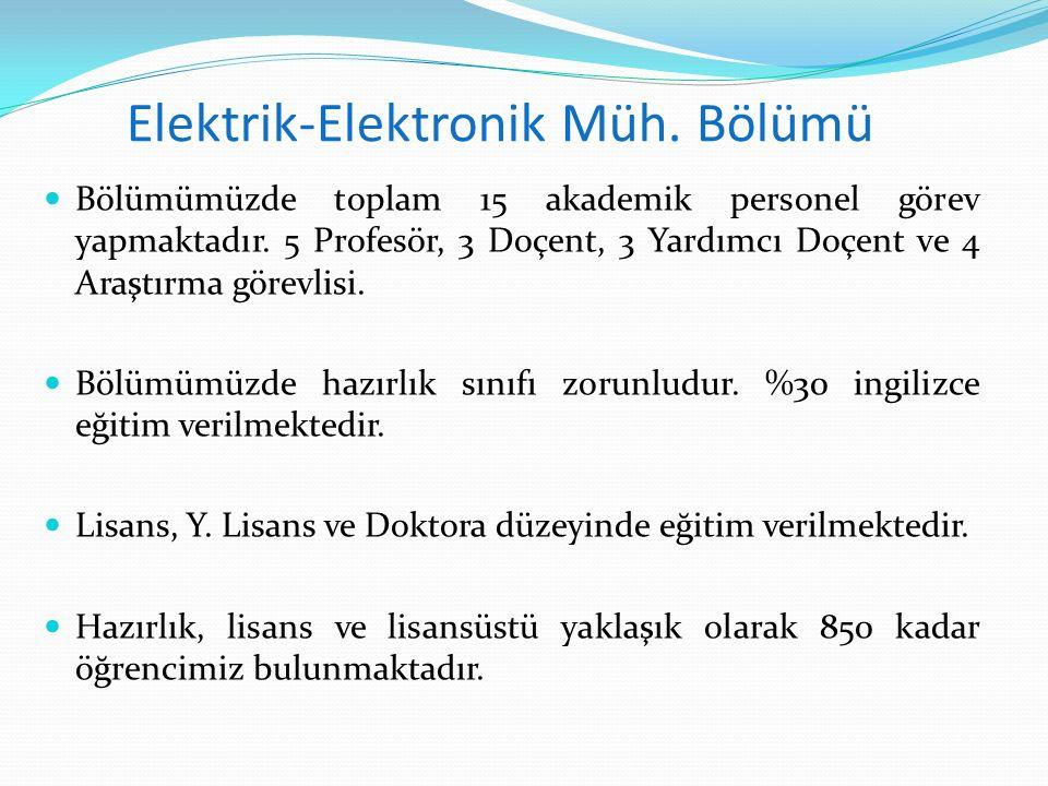 Elektrik-Elektronik Müh. Bölümü