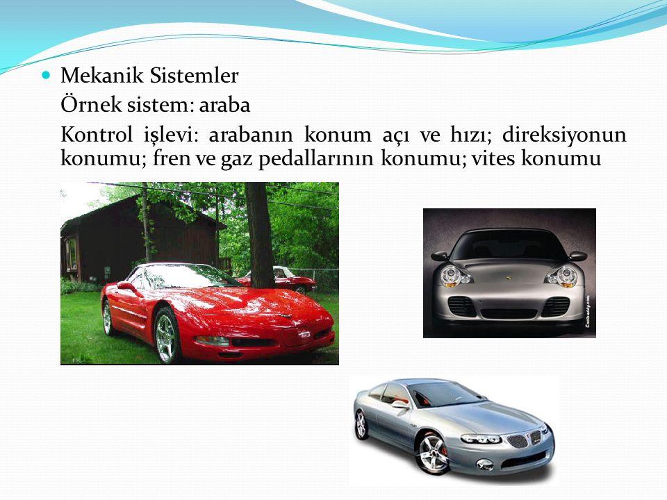 Mekanik Sistemler Örnek sistem: araba.