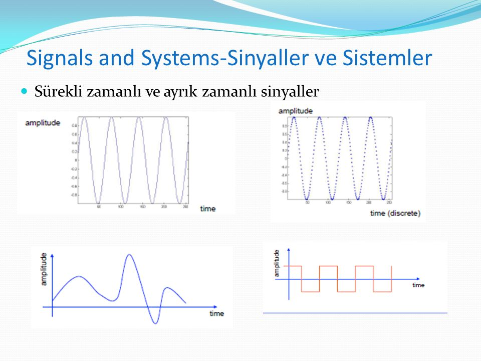 Signals and Systems-Sinyaller ve Sistemler