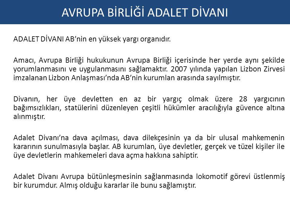AVRUPA BİRLİĞİ ADALET DİVANI