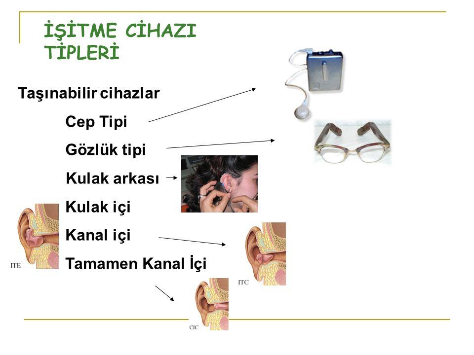 İŞİTME CİHAZI TİPLERİ Taşınabilir cihazlar Cep Tipi Gözlük tipi