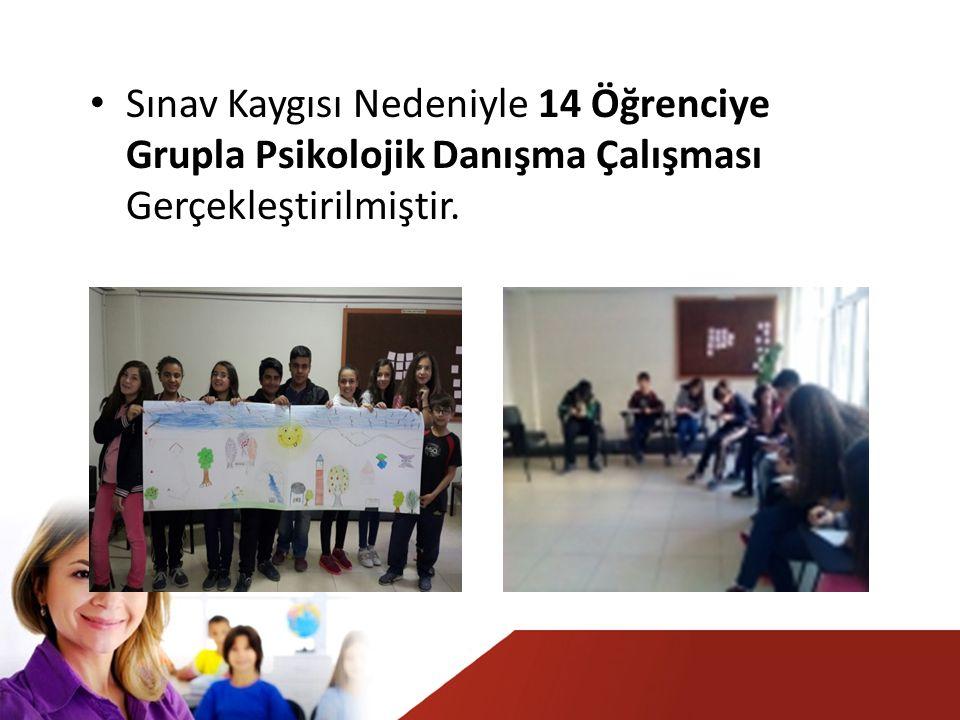 Sınav Kaygısı Nedeniyle 14 Öğrenciye Grupla Psikolojik Danışma Çalışması Gerçekleştirilmiştir.