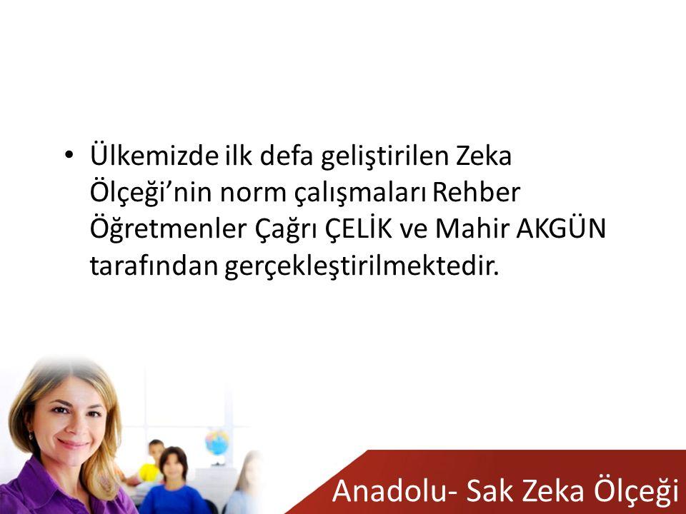 Anadolu- Sak Zeka Ölçeği