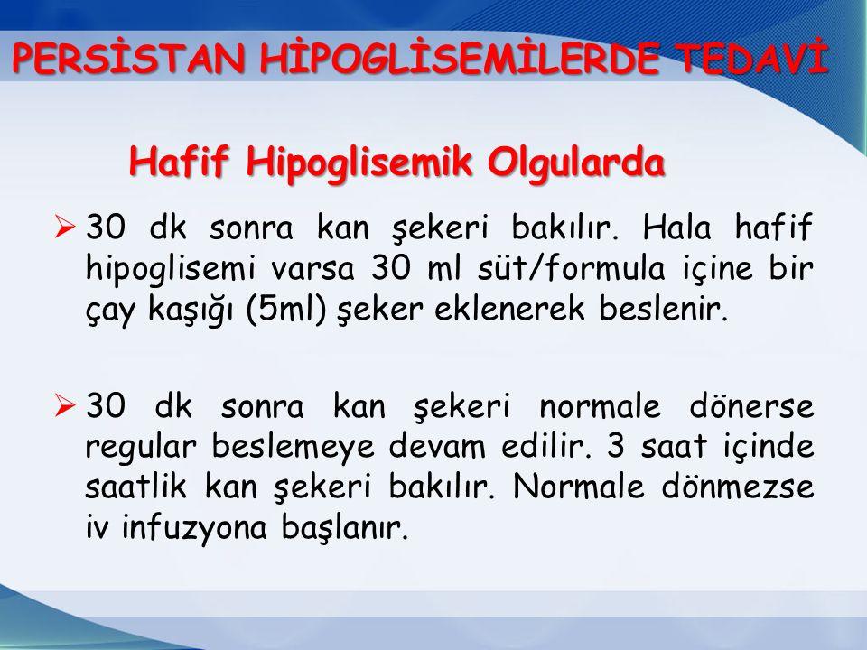 Hafif Hipoglisemik Olgularda