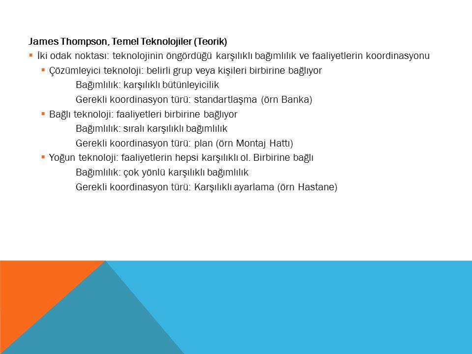 James Thompson, Temel Teknolojiler (Teorik)