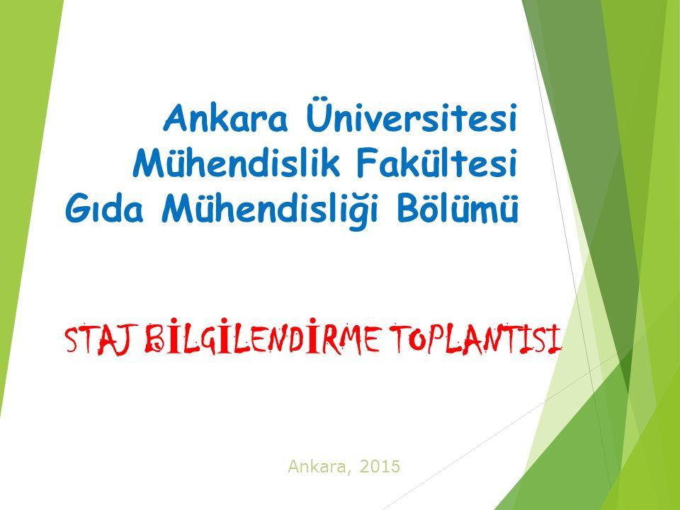 Ankara Üniversitesi Mühendislik Fakültesi Gıda Mühendisliği Bölümü