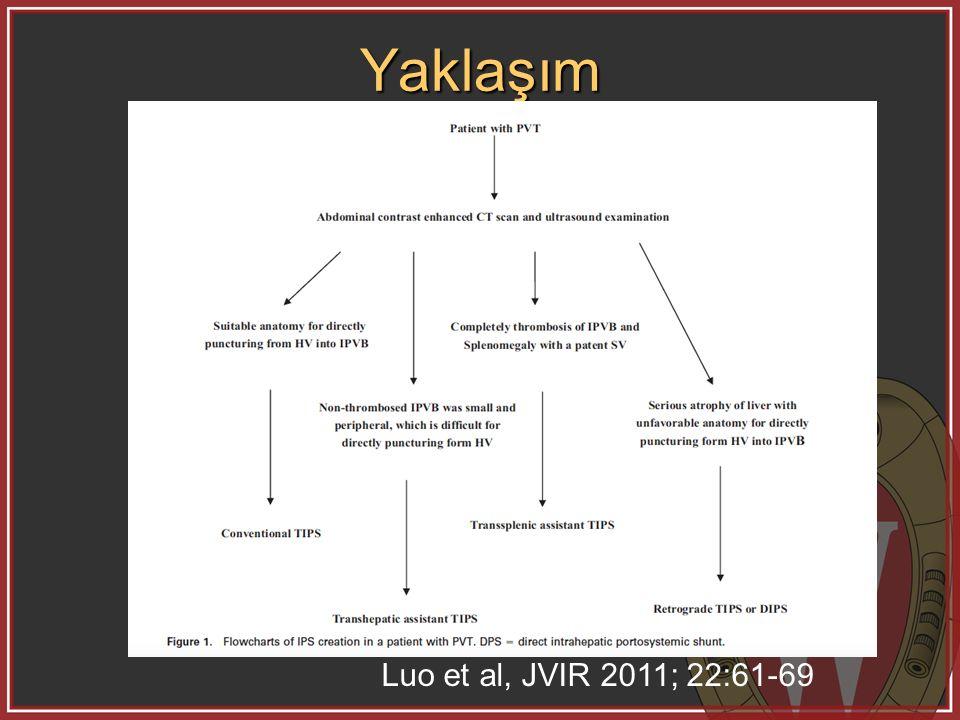 Yaklaşım Luo et al, JVIR 2011; 22:61-69