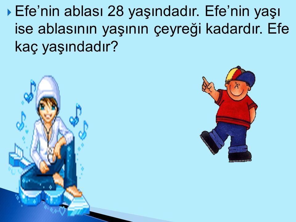 Efe'nin ablası 28 yaşındadır