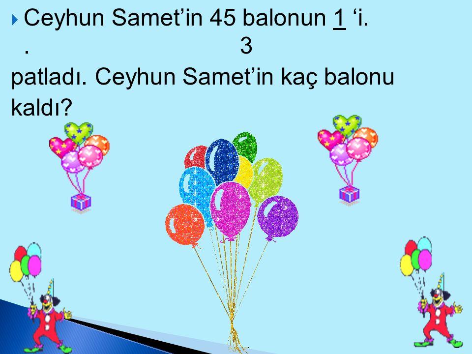 Ceyhun Samet'in 45 balonun 1 'i. . 3