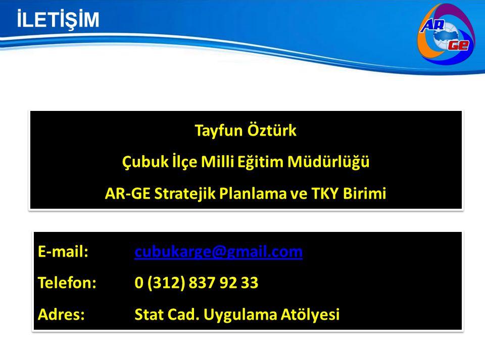 İLETİŞİM Tayfun Öztürk Çubuk İlçe Milli Eğitim Müdürlüğü