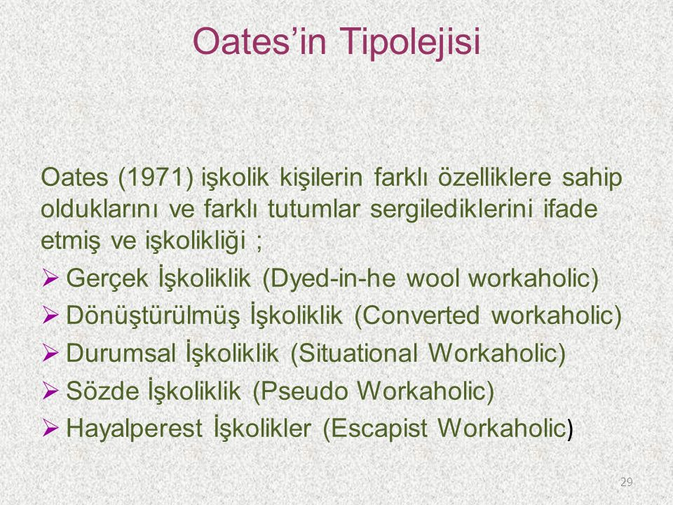 Oates'in Tipolejisi