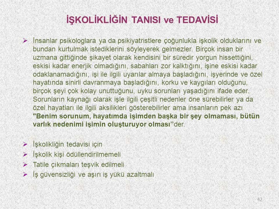 İŞKOLİKLİĞİN TANISI ve TEDAVİSİ