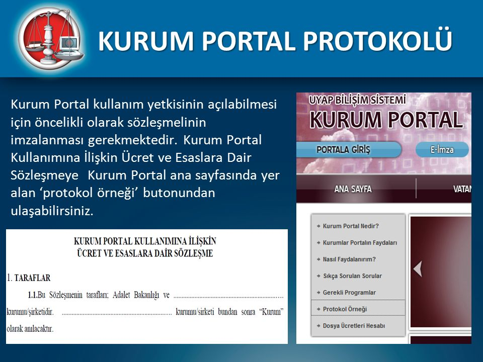 KURUM PORTAL PROTOKOLÜ
